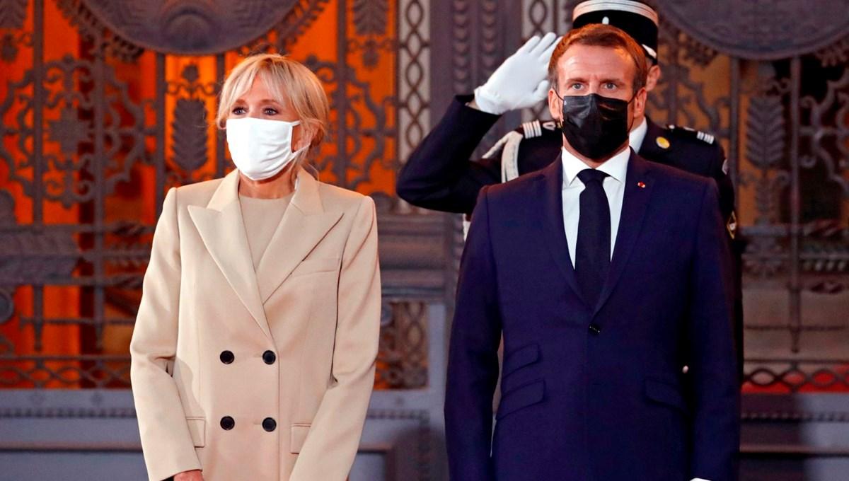 Fransa CumhurbaşkanıMacron'un eşikendini karantinaya aldı