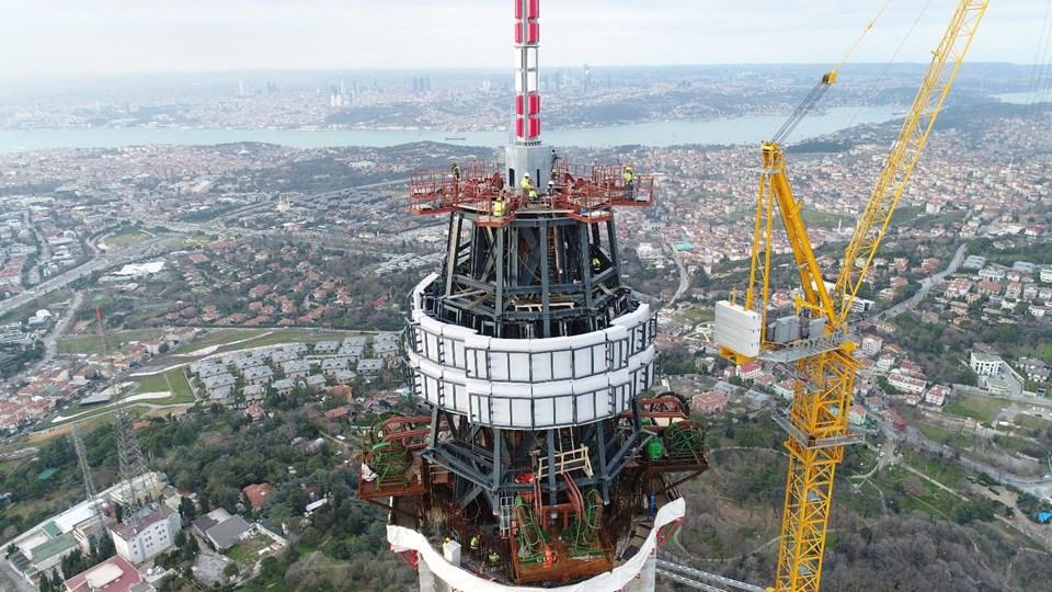 küçük çamlıca televizyon kulesi, çamlıca, üsküdar, büyük çamlıca tepesi, anten