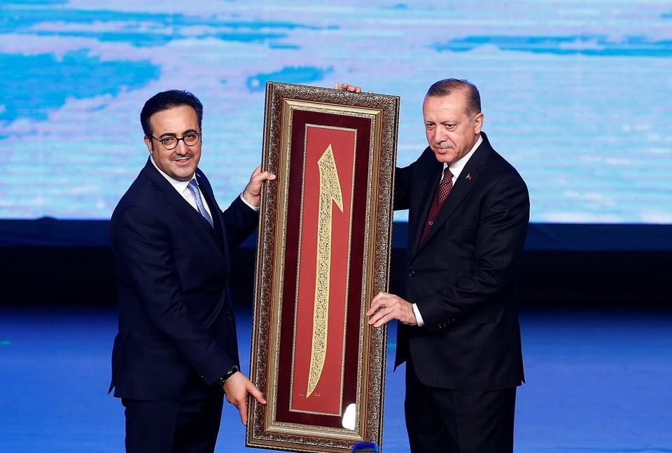 THY Yönetim Kurulu ve İcra Komitesi Başkanı İlker Aycı ve Cumhurbaşkanı Recep Tayyip Erdoğan