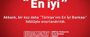 Euromoney: Akbank Türkiye'nin En İyi Bankası