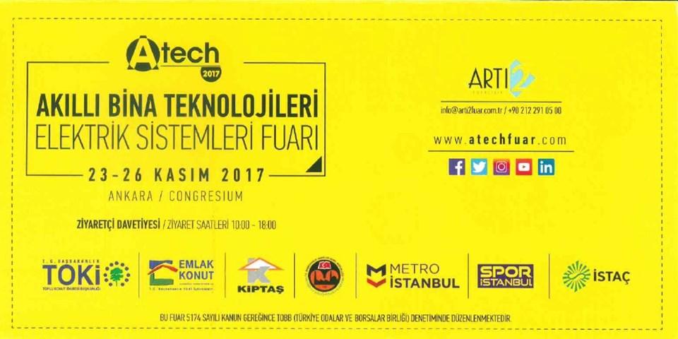 A-TECH, Ankara Congresium Fuar Merkezi'nde 22 Kasım'da başlıyor.