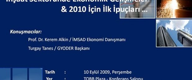 """""""İnşaat Sektöründe Ekonomik Gelişmeler & 2010 için İlk İpuçları…"""""""