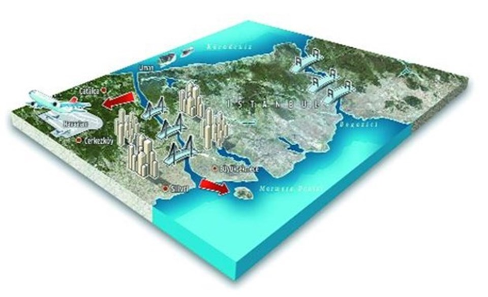 Kanal İstanbul'un 400 metre genişliğinde, 43 kilometre uzunluğunda ve 25 metre derinliğinde yapılacağı karara bağlanmıştı.