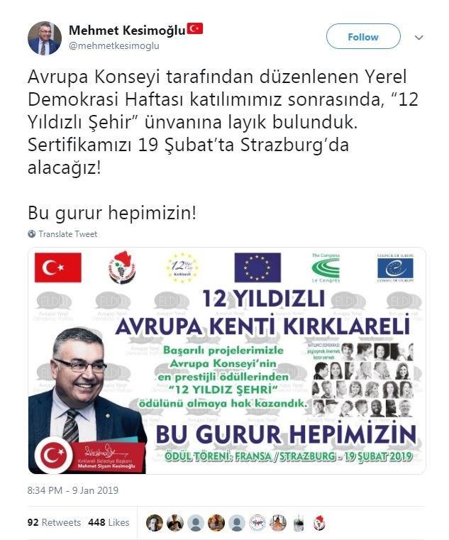Mehmet Kesimoğlu/Twitter