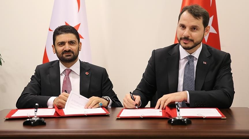 KKTC Ekonomi ve Enerji Bakanı Atun ile Enerji ve Tabii Kaynaklar Bakanı Albayrak