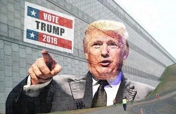 Trump'ın Meksika'dan kaçak girişlerin önüne geçmek için sınıra duvar projesi kampanyaya böyle yansımıştı.