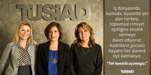 TÜSİAD'ın son üç kadın başkanı bir arada... Ümit Boyner-Cansen Başaran Symes-Arzuhan Doğan Yalçın