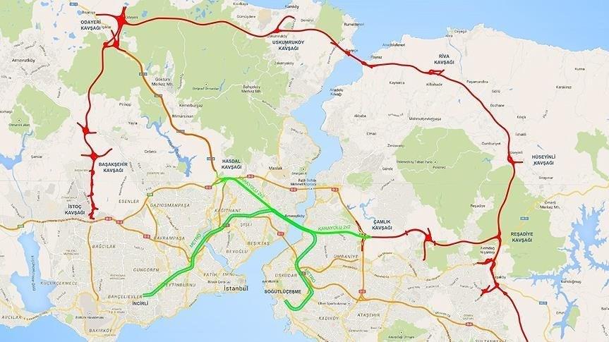 Tünel, haritada yeşil olarak gösterilen güzergahtan geçecek.