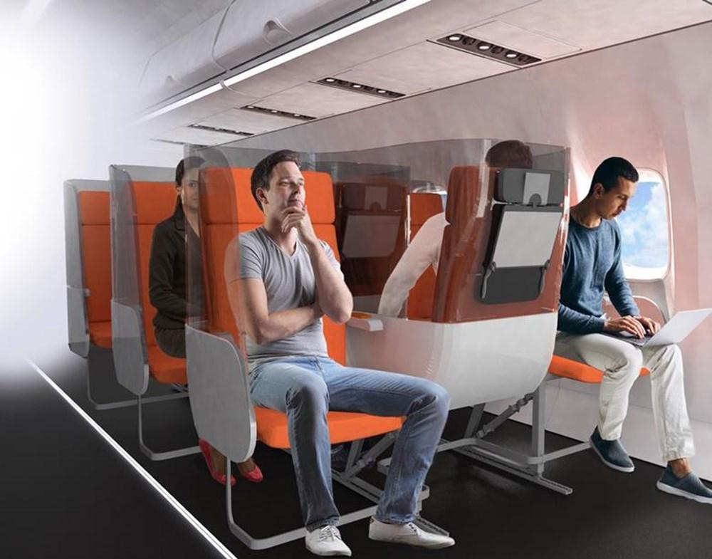 Corona virüs etkisi: Uçak yolculukları için yeni tasarım - 5