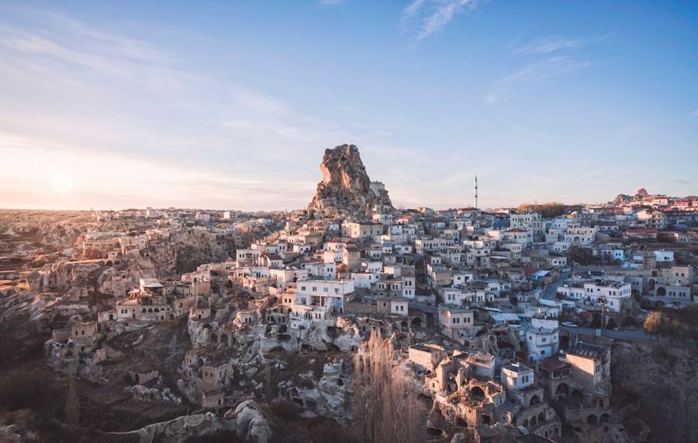 'Dünyanın en yüksek peri bacası' Uçhisar'a ziyaretçi akını - 2