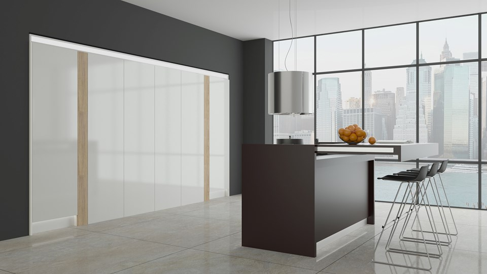 Hafele tasarım zekasıyla mutfak kapalıyken.