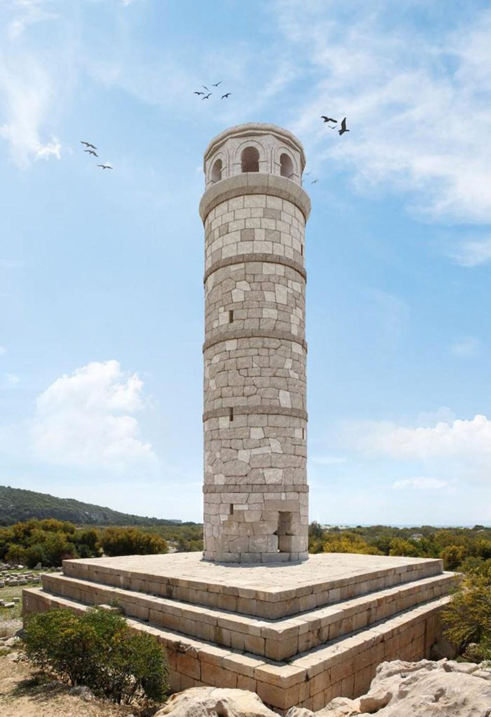 Tarihi Patara Deniz Feneri orijinal taşlarla yeniden ayağa kaldırılıyor - 6