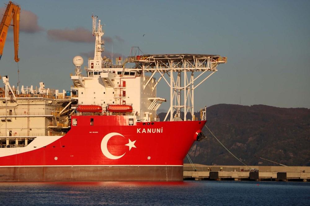 Kanuni sondaj gemisinin kule montaj çalışmaları başladı - 9