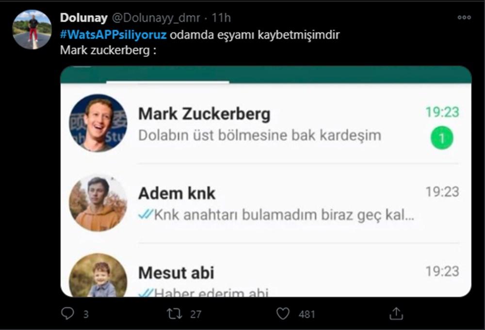#WhatsAppSiliyoruz etiketine yapılan yorumlar güldürdü - 5