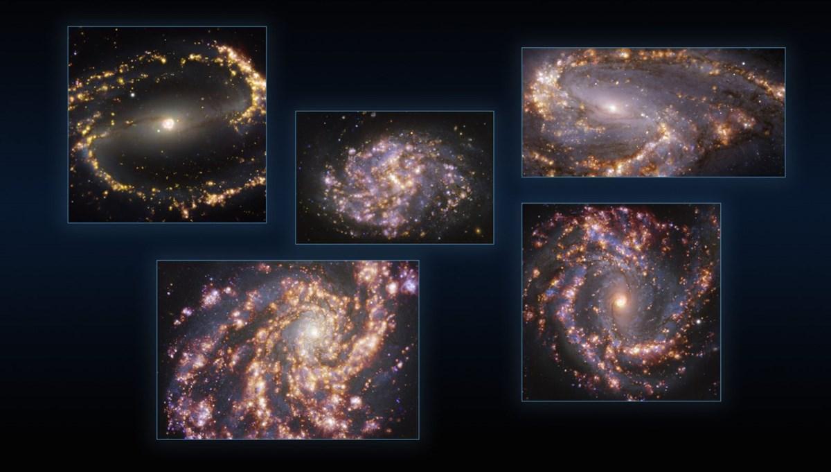 Farklı galaksilerdeki yıldız oluşumları, ilk kez ayrıntılı bir şekilde görüntülendi