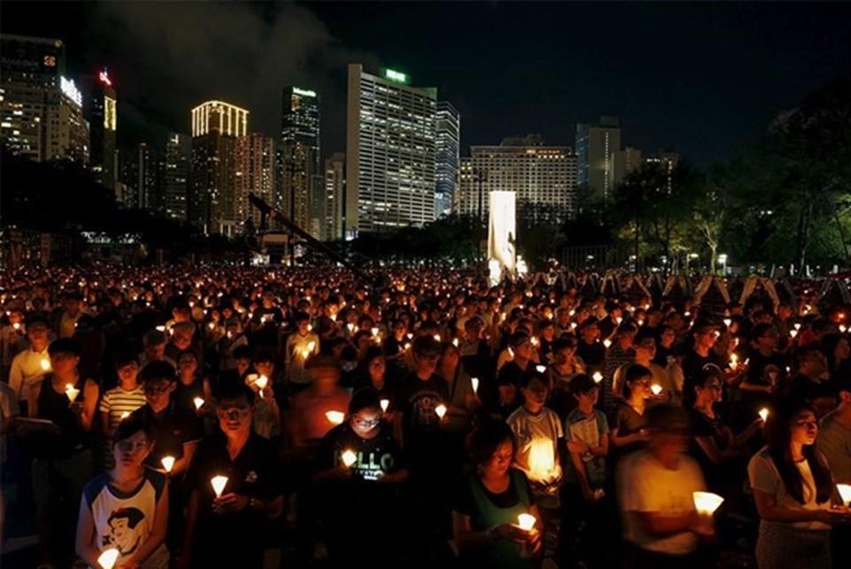 Tiananmen olaylarının yıl dönümü, son dönemde Hong Kong'ta on binlerce kişi tarafından anılıyor.