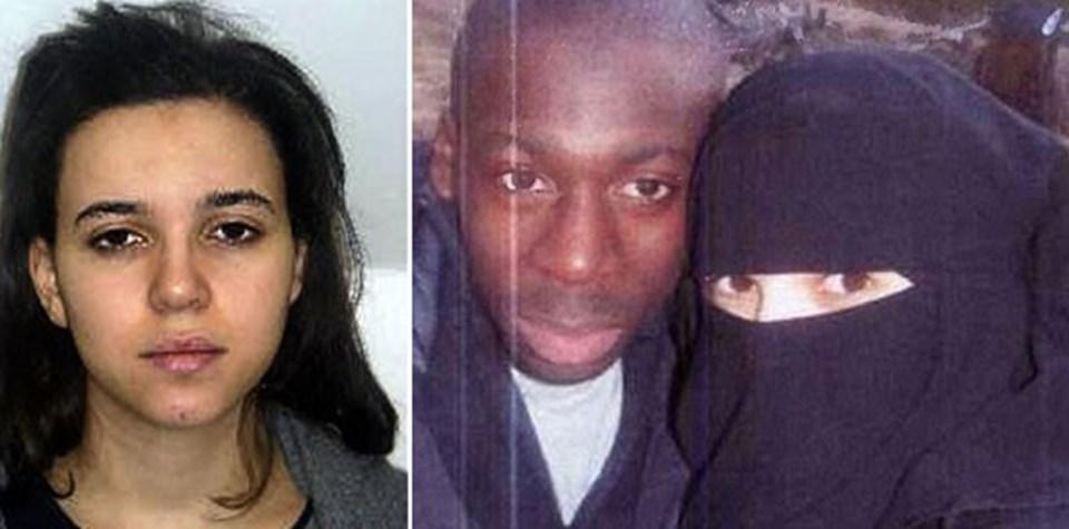 Fransa'da süpermarket saldırısını yapanAmedy Coulibaly ve Hayat Boumedienne