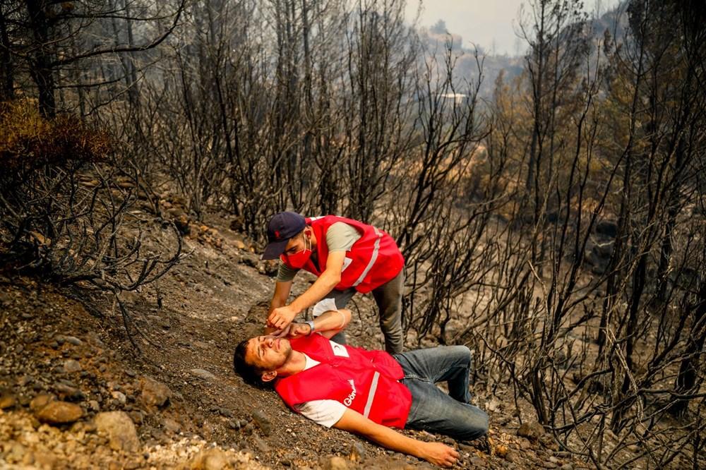 Orman yangınında gönüllülerin asılsız ihbar mesaisi - 4