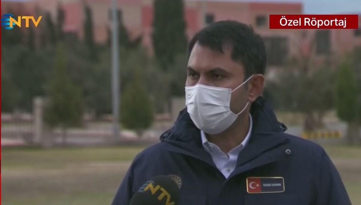 Bakan Kurum NTV'de (İzmir'de hasar tespitleri devam ediyor)