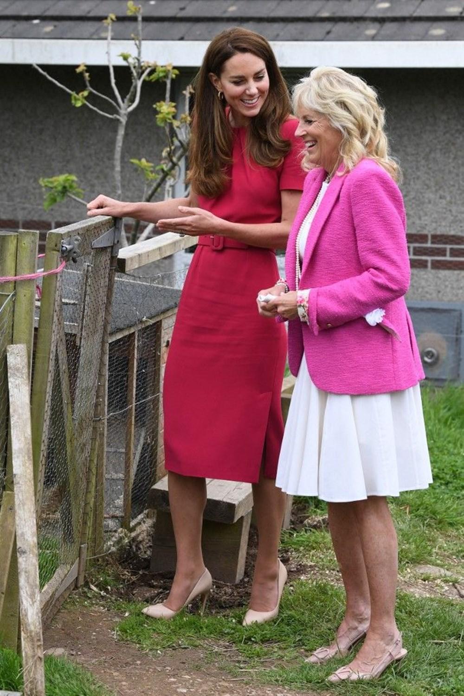 First Lady Jill Biden ve Cambridge Düşesi Kate Middleton buluştu: Birlikte okul ziyareti - 2