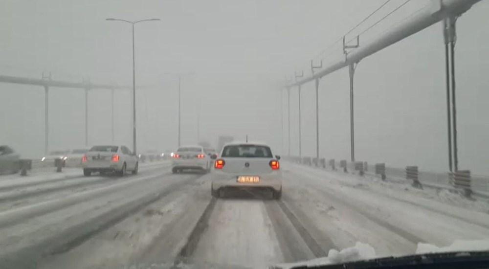 İstanbul'da kar yağışı yeniden etkisini artırdı - 5