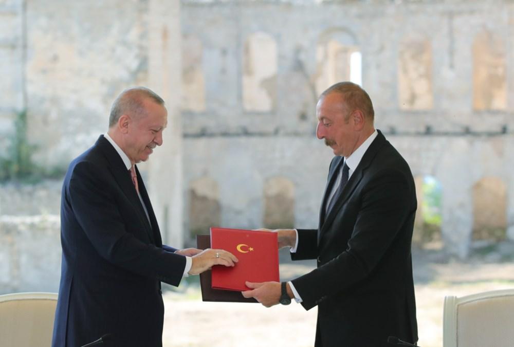 Cumhurbaşkanı Erdoğan ve Aliyev Şuşa Beyannamesi'ni imzaladı - 14