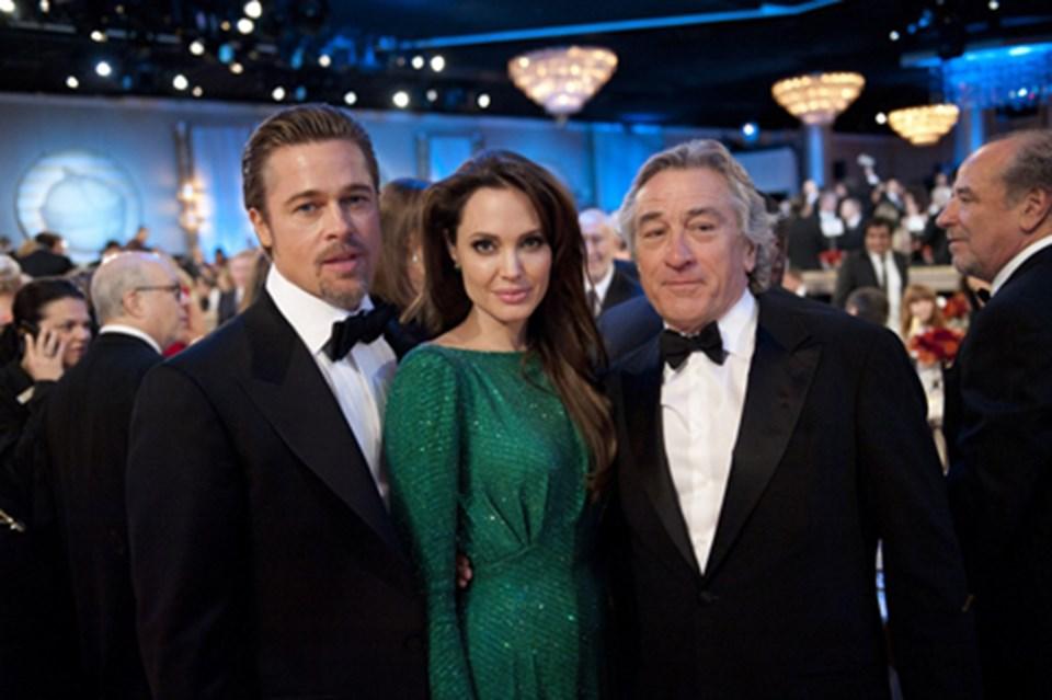 Brad Pitt, A. Jolie, Robert De Niro