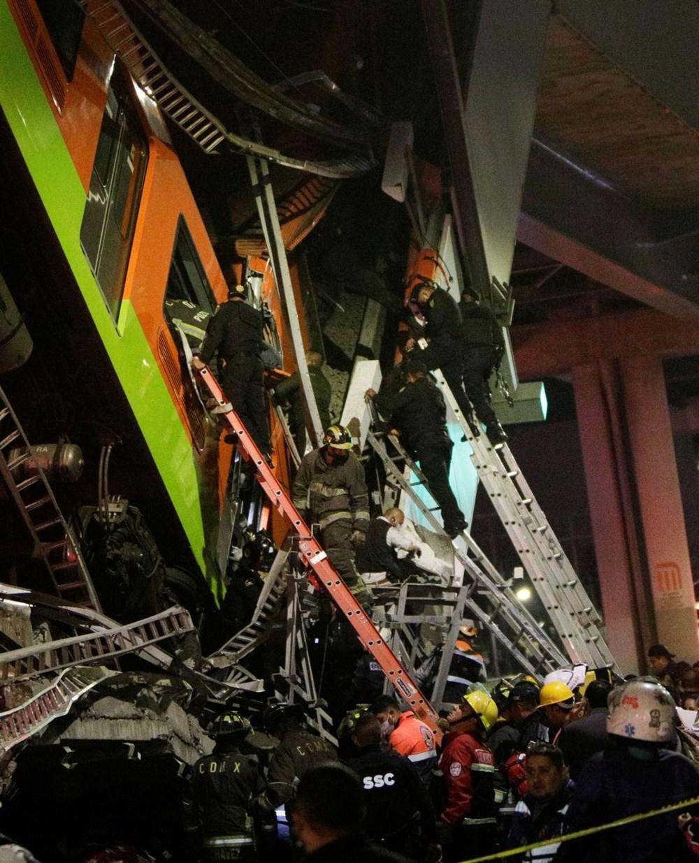 Meksika'da tren raylarını taşıyan üst geçit çöktü: 15 kişi öldü, 70 kişi yaralandı - 7