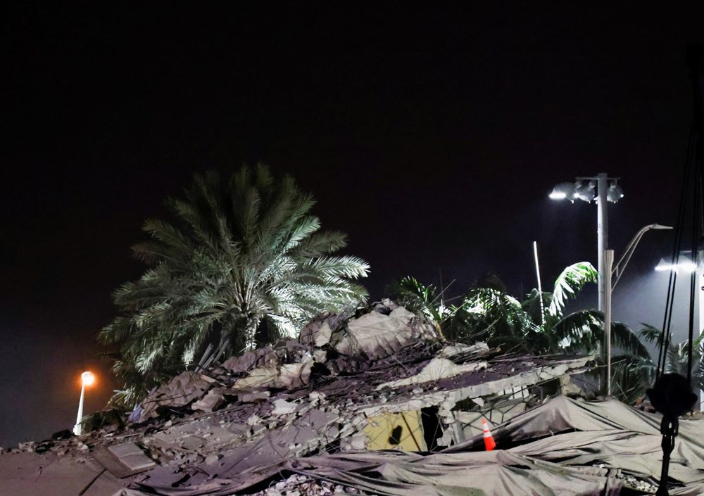 The rest of the collapsed building in Miami was demolished - 11