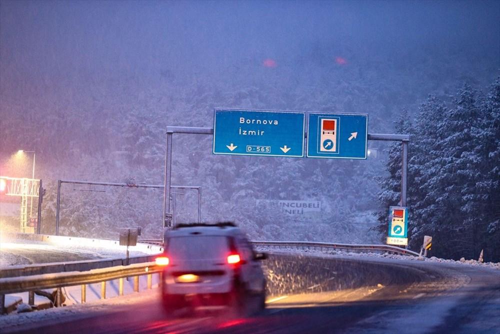 Yurtta kar yağışı (İzmir'in yüksek kesimlerinde kar yağışı etkili oluyor) - 2