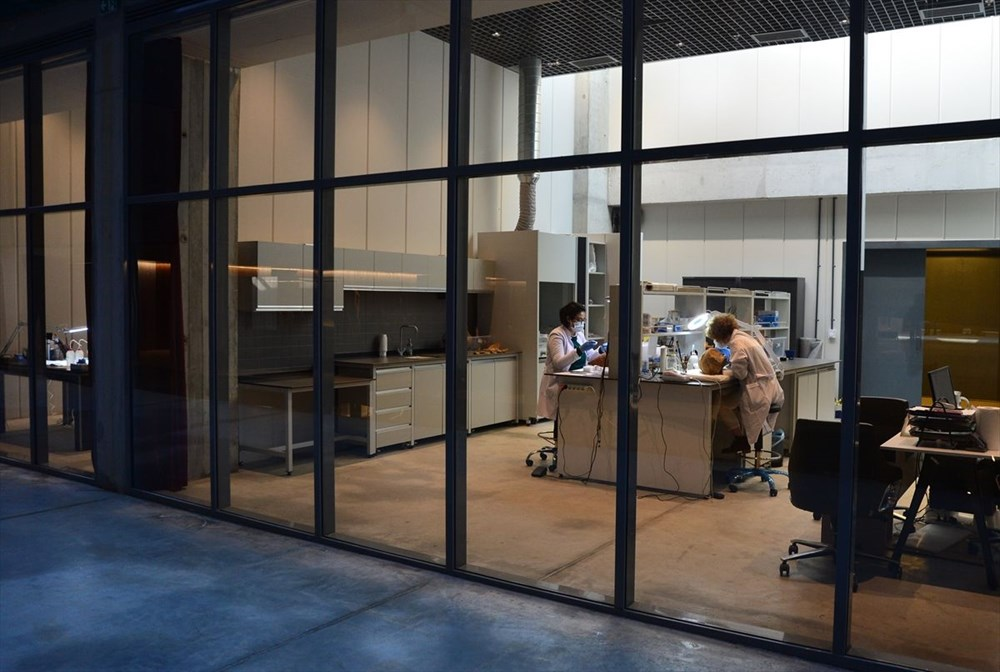 Troya Müzesi'nin perdeleri restorasyon ve konservasyon çalışmaları için ziyaretçilere açılıyor - 6