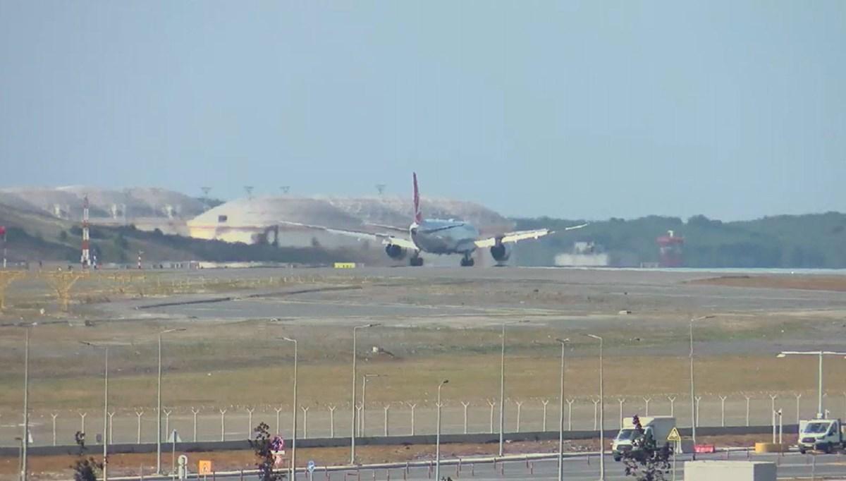 Kabil'den Türkleri getiren THY uçağı İstanbul Havalimanı'na indi