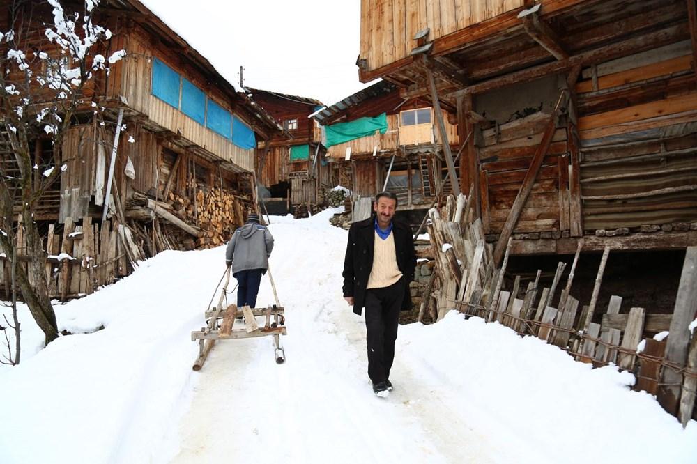 Artvin'deki 2 bin rakımlı Maden Köyü'nde kışı böyle geçiriyorlar - 17