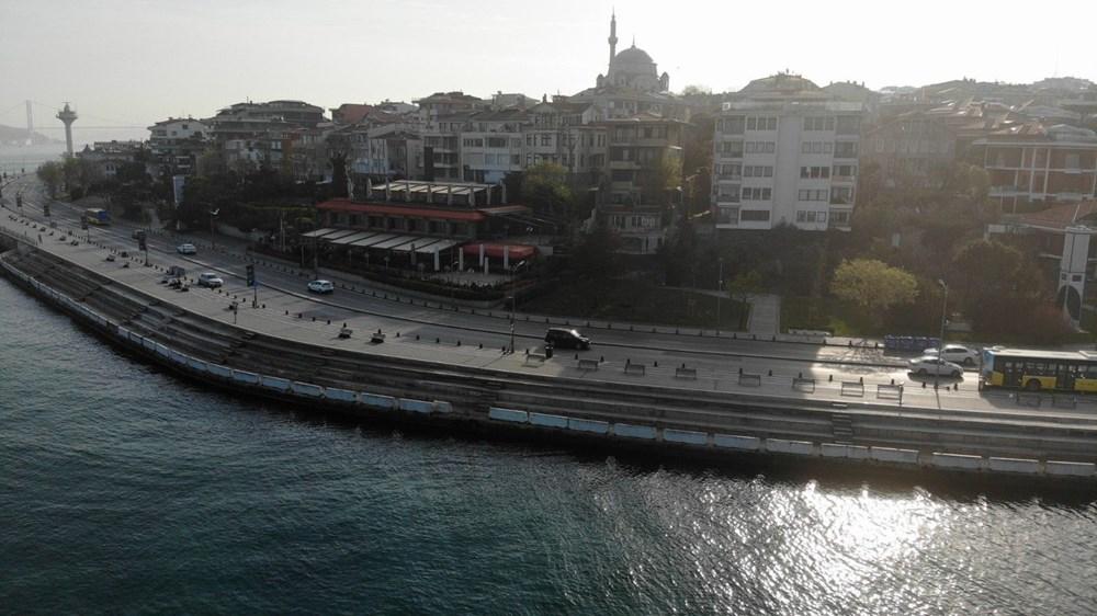 Tam kapanma sonrası Kadıköy ve Üsküdar'da meydanlar sessizliğe büründü - 5