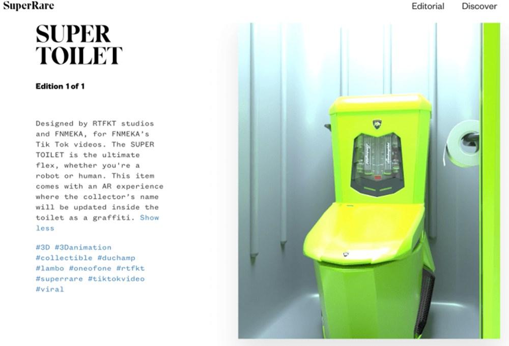 Robot rap şarkıcısı tuvalet NFT'sini 6500 dolara sattı - 4