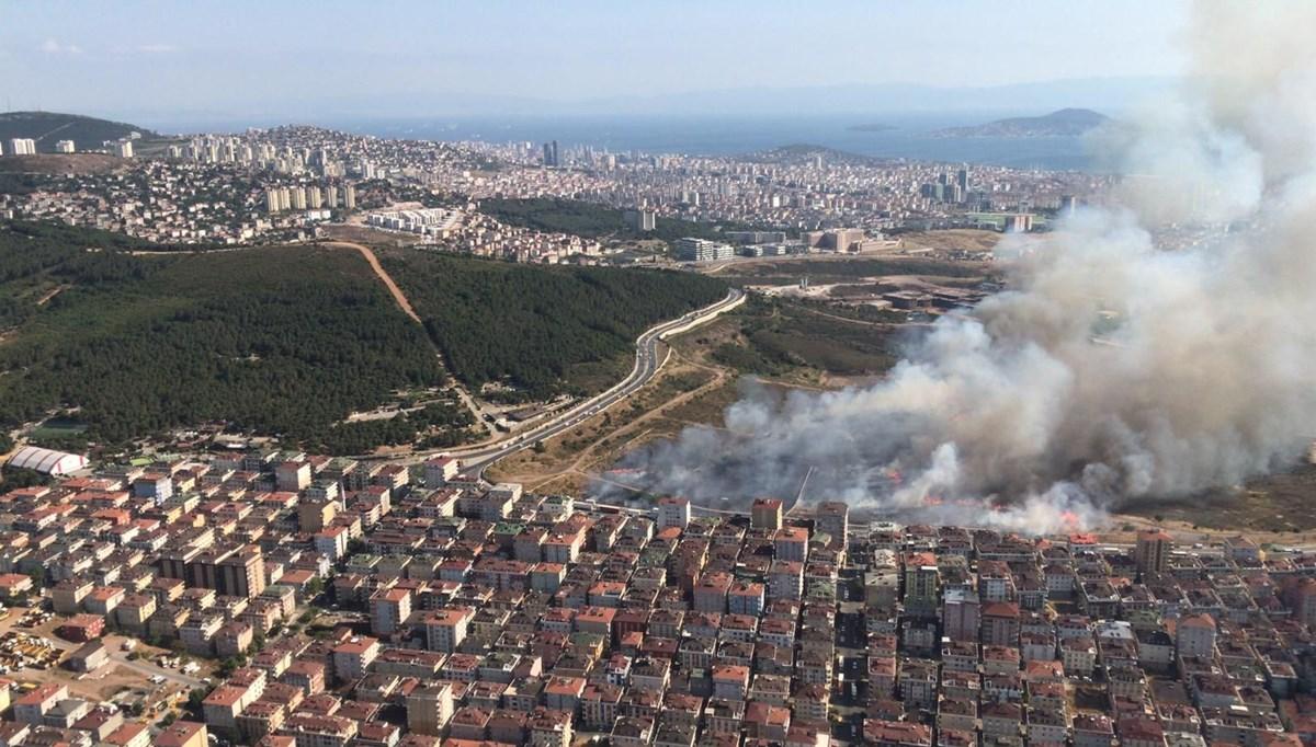 İstanbulMaltepe'de askeri alanda yangın