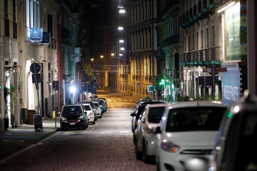 İtalya'nın Napoli kentinde sokağa çıkma yasağı olaylı başladı - 10