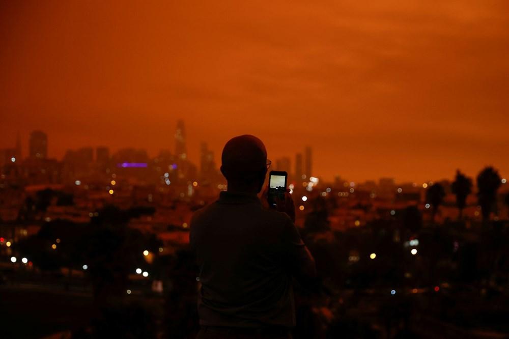 ABD'de yangınlar beş kasabayı yok etti (Gökyüzü turuncu renge boyandı) - 5