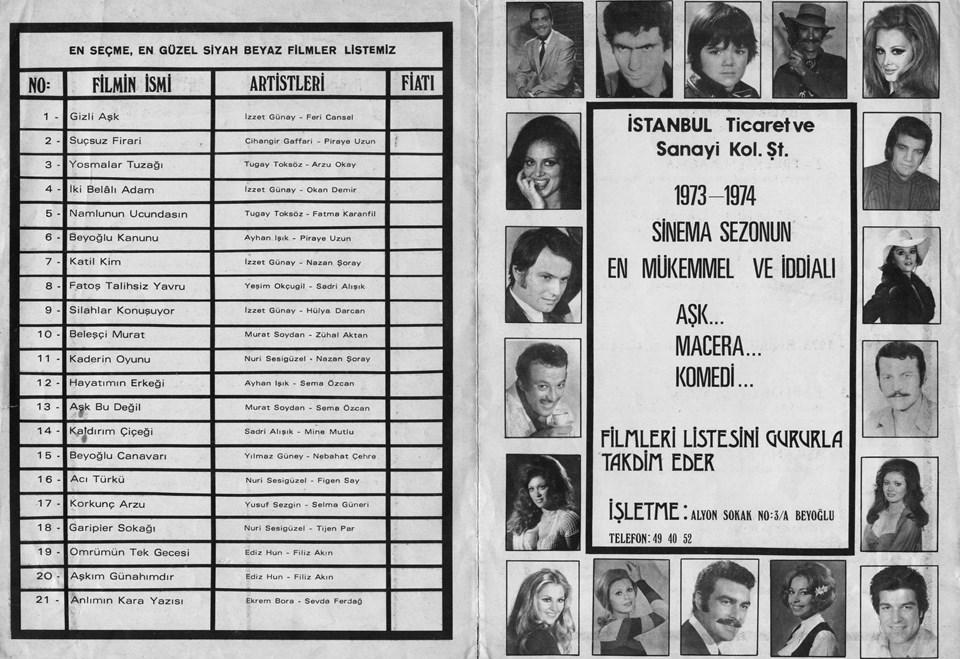 1973-74 Sinema Yılı'nda Safa Önal çalışmaları...