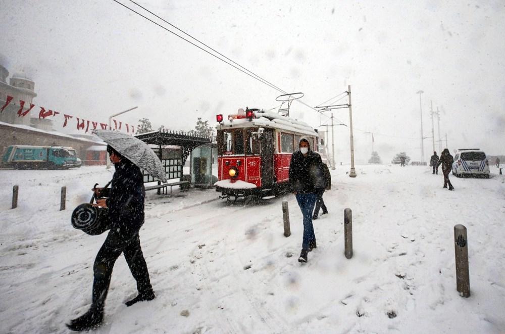 İstanbul'da kar yağışı yeniden etkisini artırdı - 9