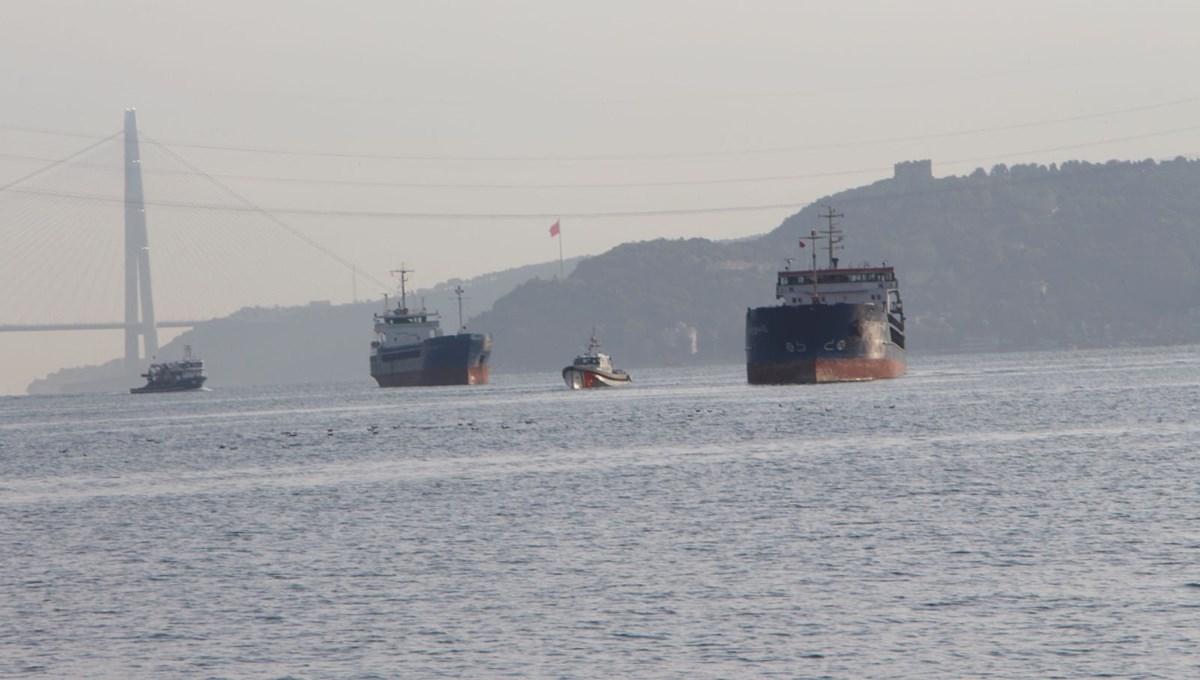 SON DAKİKA HABERİ:Yeniköy önlerinde Türk ve Rus bandralı iki kuru yük gemisi çarpıştı
