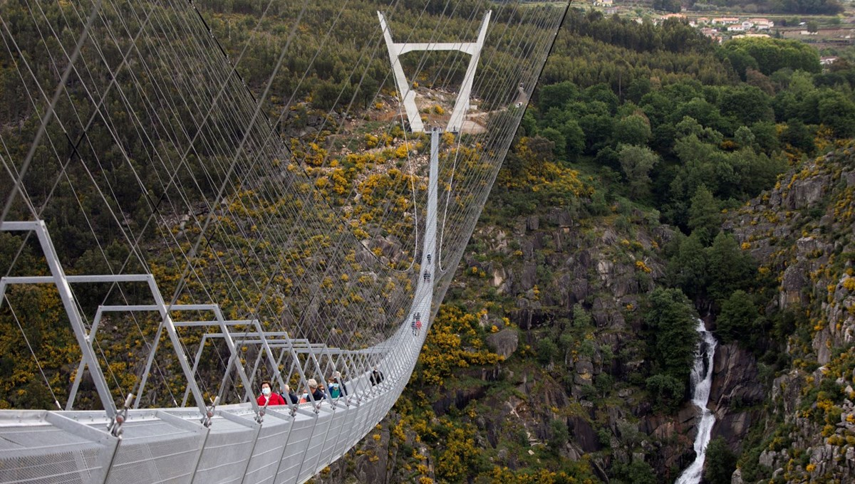 The longest suspension bridge for pedestrians was opened