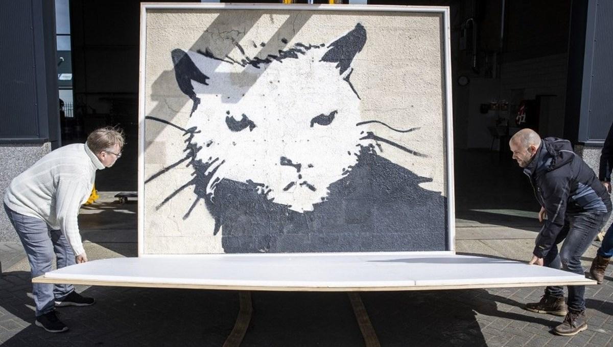 Banksy'nin Beyaz Saray Sıçanı 380 bin euroya satıldı