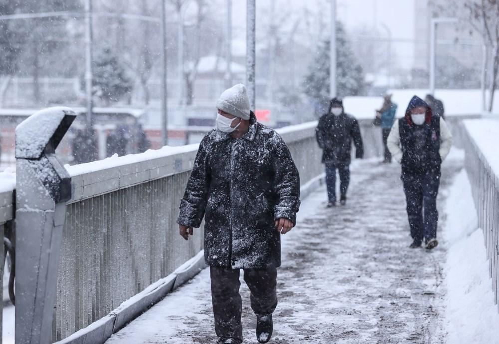 İstanbul'da kar yağışı yeniden etkisini artırdı - 21