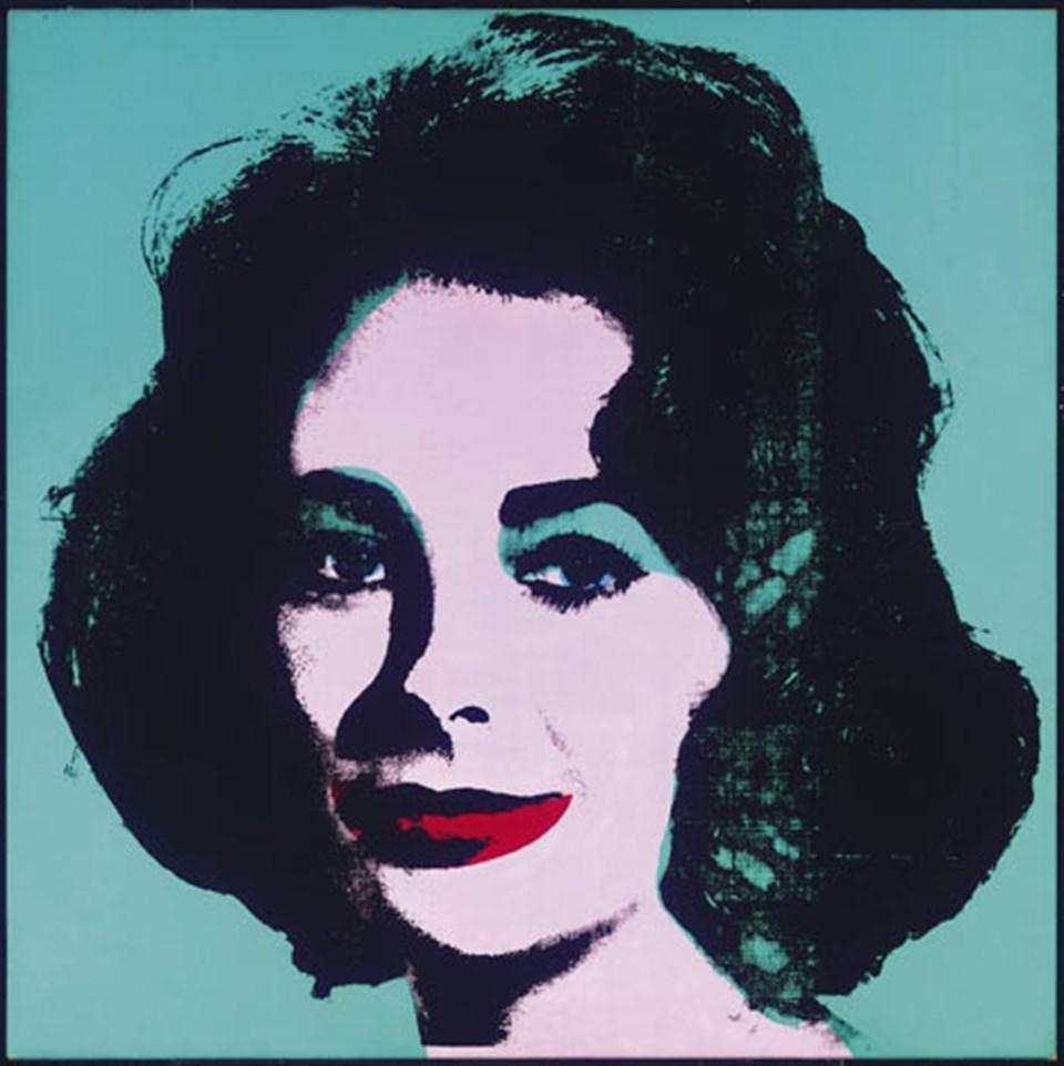 Andy Warhol'un Elizabeth Taylor tablosu
