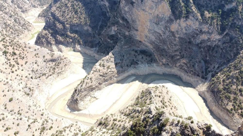 Doğa harikası İnceğiz Kanyonu'nun suyu çekildi - 7