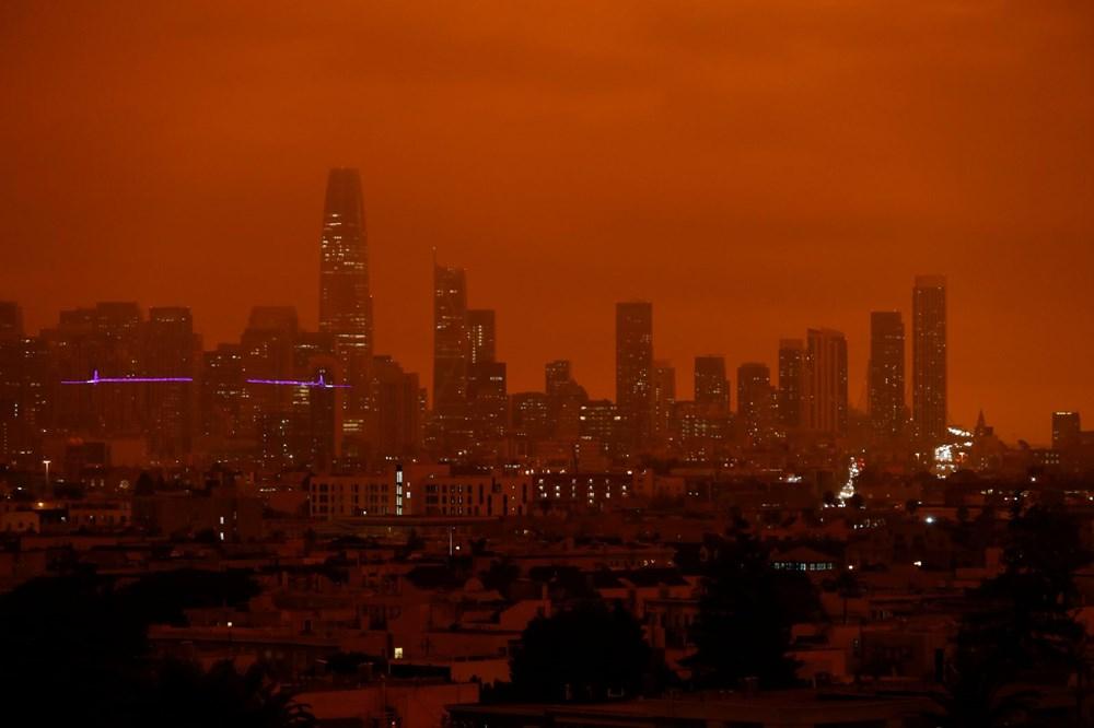 ABD'de yangınlar beş kasabayı yok etti (Gökyüzü turuncu renge boyandı) - 3
