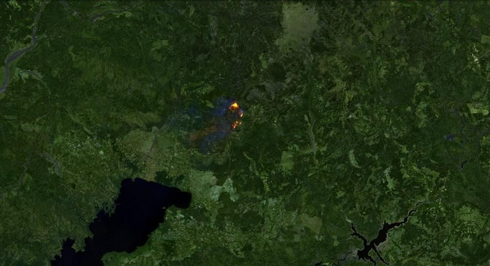 Orman yangınları uydudan böyle görüntülendi - 10