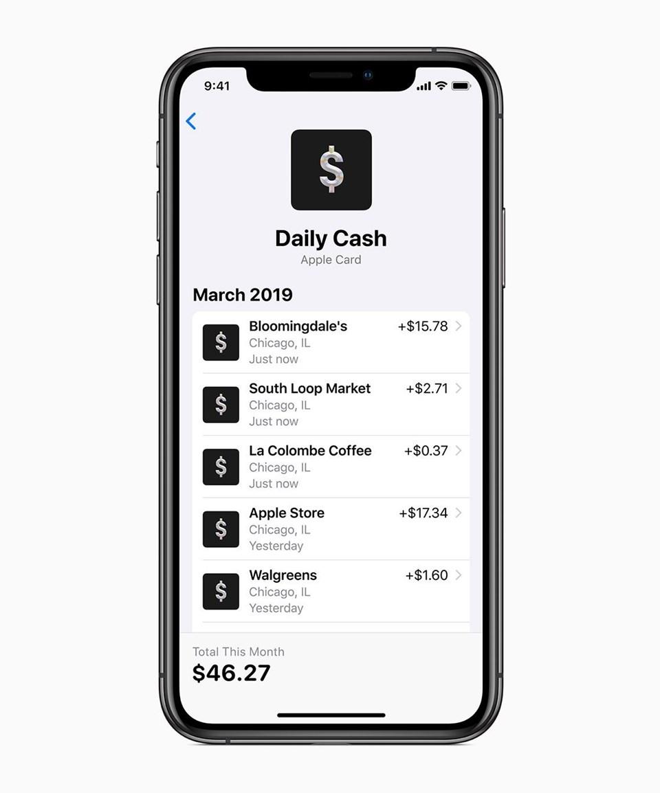 Apple Card ile yapılan harcamalar uygulama üzerinden takip edilebilecek. Ayrıca kullanıcılar harcama yapılan mağazalar da Apple Maps üzerinden kayda alınacak.