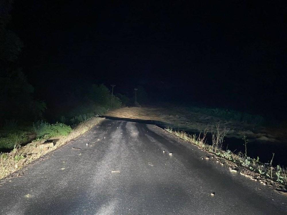 Düzce'de dere taştı, yol çöktü: Kentte sağanak etkili oldu - 23